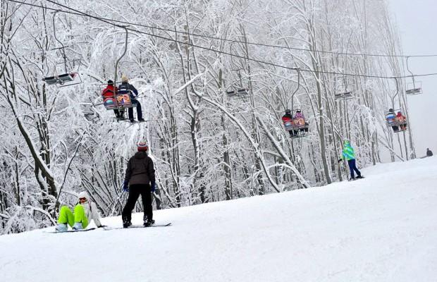Telescaunul este funcțional, iar vremea perfectă pentru sporturile de iarnă