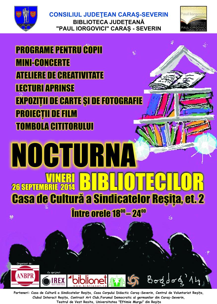 afis Nocturna bibliotecilor Resita