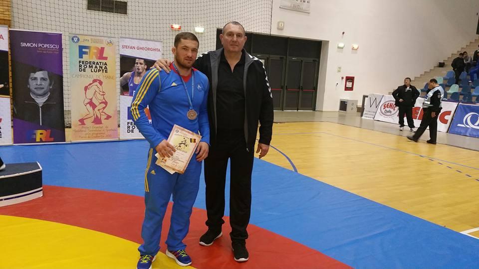 Andrei Franț și antrenorul Adrian Dacica