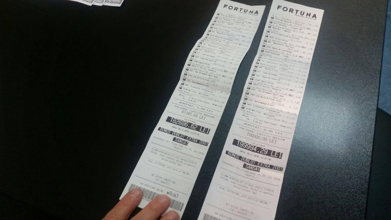 bilete castigatoare pariuri