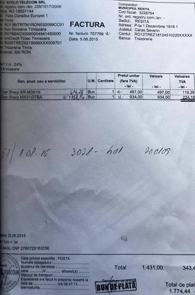 factura toner