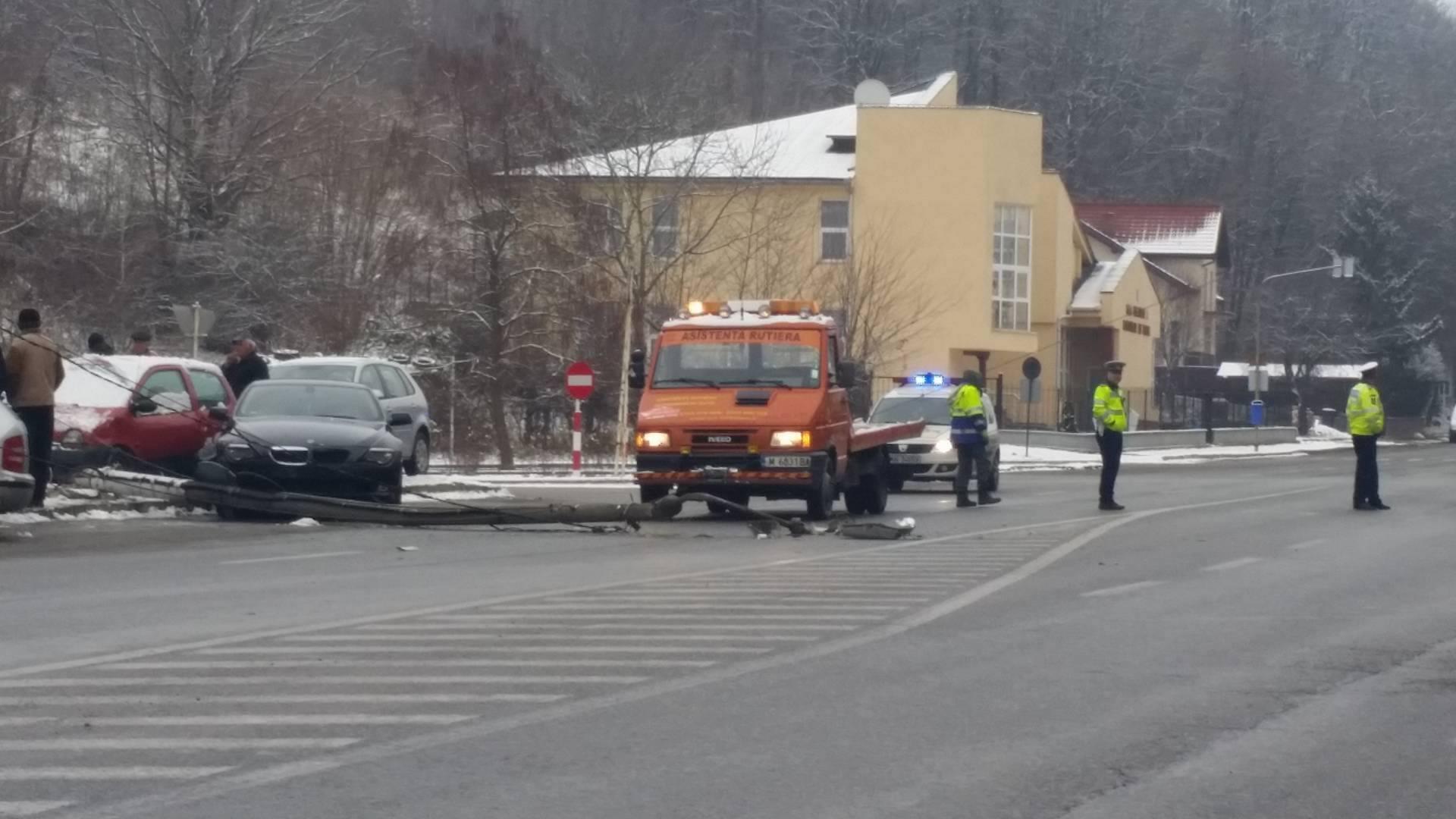 accident intrare Resita BMW 2